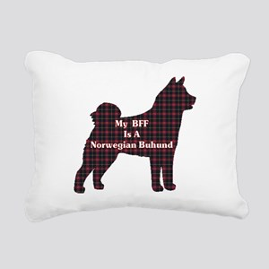 BFF Norwegian Buhund Rectangular Canvas Pillow