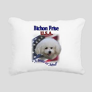 bichon usa Rectangular Canvas Pillow
