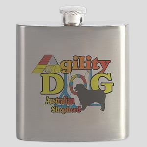 Australian Shepherd Agility Flask