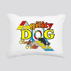 Border Collie Agility Rectangular Canvas Pillow