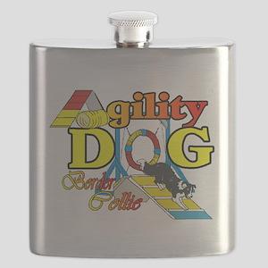 Border Collie Agility Flask