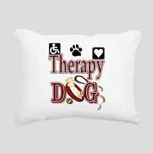 therapy dog tee Rectangular Canvas Pillow