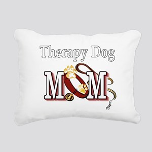 Therapy Dog Mom Rectangular Canvas Pillow