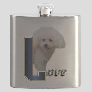 Bichon Frise Love Flask