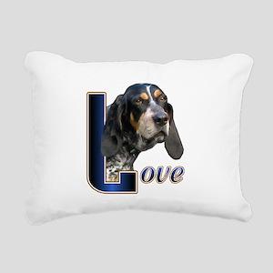 Bluetick Coonhound Love Rectangular Canvas Pillow