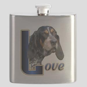Bluetick Coonhound Love Flask