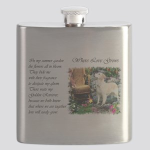 summer garden golden for poem Flask