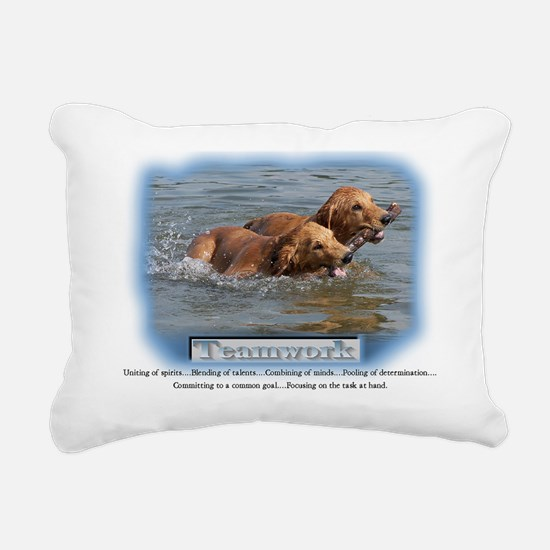 golden retrievers_teamwork Rectangular Canvas Pill