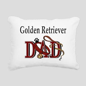 Golden Retriever ADJ Rectangular Canvas Pillow
