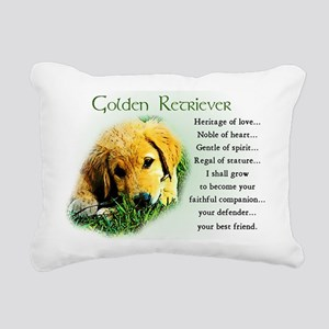 golden retriever puppy Rectangular Canvas Pillow