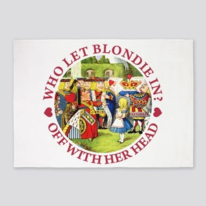 Who Let Blondie In? 5'x7'Area Rug