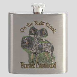 bluetick coonhounds 3 Flask