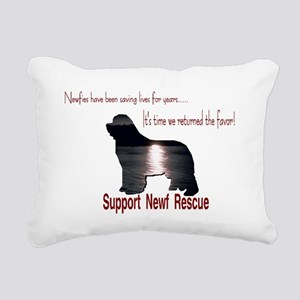 Support Newf Rescue Rectangular Canvas Pillow