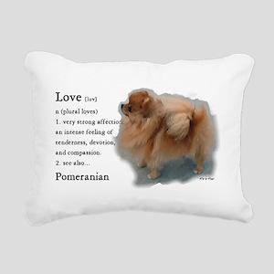 Pomeranian Lovers Gifts Rectangular Canvas Pillow
