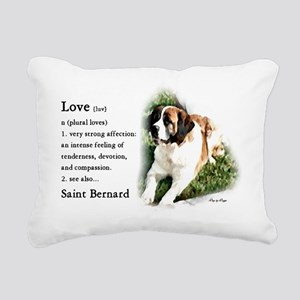 Saint Bernard Gifts Rectangular Canvas Pillow