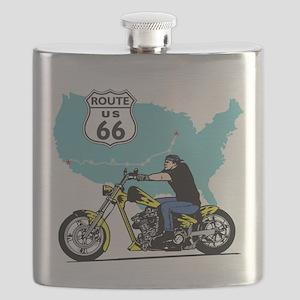 Route 66 Biker Flask