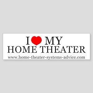 Love My Home Theater Bumper Sticker
