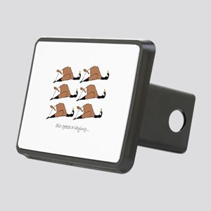 Six geese a-laying... Rectangular Hitch Cover