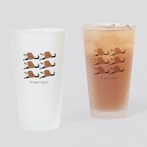 Six geese a-laying... Drinking Glass