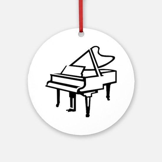 Grand piano Ornament (Round)