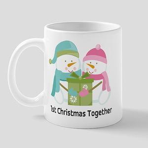 1st Christmas Together Snowmen Mug