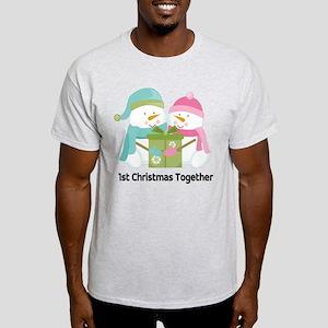 1st Christmas Together Snowmen Light T-Shirt