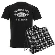 Vietnam Era Vet Navy Men's Dark Pajamas