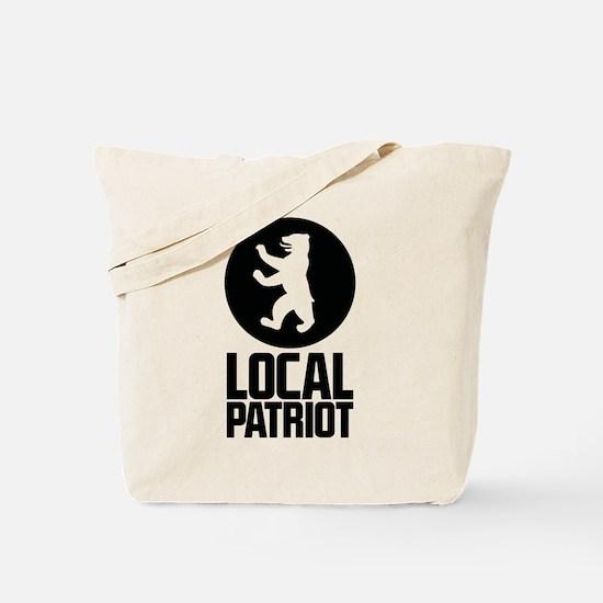 Local Patriot Bear Tote Bag
