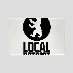 Local Patriot Bear Rectangle Magnet