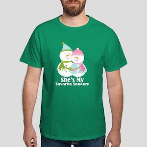 Snowman Mens Couple Dark T-Shirt