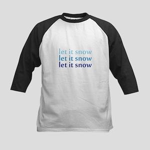 Let it Snow Kids Baseball Jersey