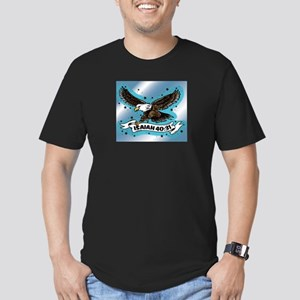 Isaiah - Eagle Men's Fitted T-Shirt (dark)