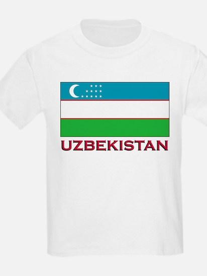 Uzbekistan Flag Stuff Kids T-Shirt