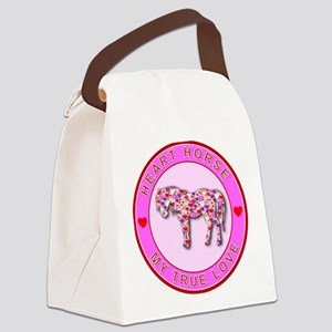 3-HEART HORSE - MY TRUE LOVE Canvas Lunch Bag