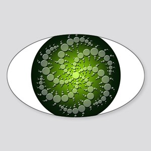 Green Rasa Sticker (Oval)