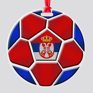 Serbia Soccer Football Ornament