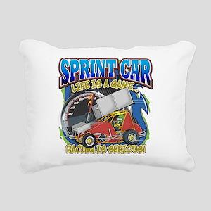 Sprint Car Life Rectangular Canvas Pillow
