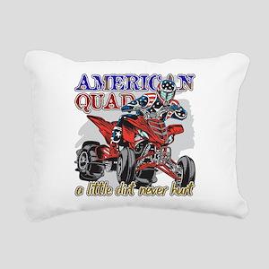 American Quad Rectangular Canvas Pillow