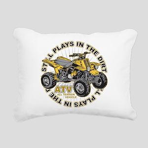 Plays in the Dirt ATV Rectangular Canvas Pillow