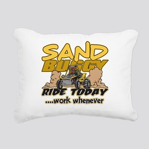 Sand Buggy Ride Today Rectangular Canvas Pillow