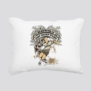 Eat, Sleep, Play Rugby Rectangular Canvas Pillow