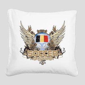 Soccer Belgium Square Canvas Pillow