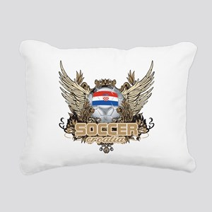 Soccer Croatia Rectangular Canvas Pillow