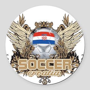 Soccer Croatia Round Car Magnet