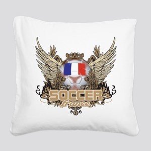 Soccer France Square Canvas Pillow