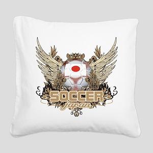 Soccer Japan Square Canvas Pillow