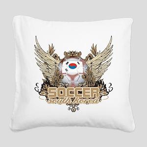 Soccer South Korea Square Canvas Pillow