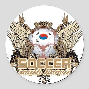 Soccer South Korea Round Car Magnet