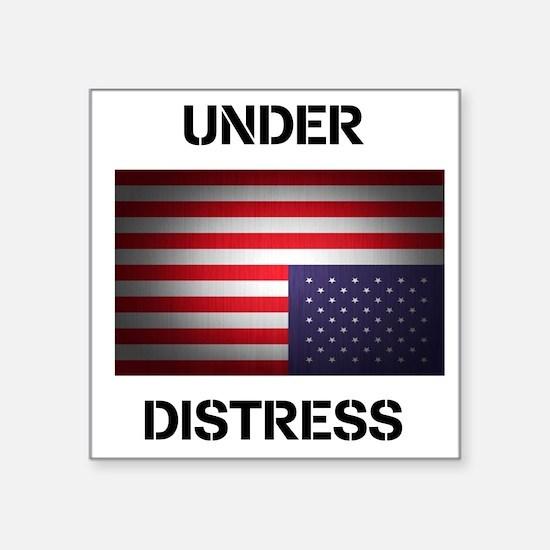 "Under Distress Square Sticker 3"" x 3"""