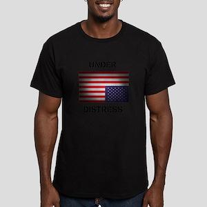 Under Distress Men's Fitted T-Shirt (dark)